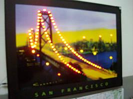 Картина с неоновой подсветкой San Francisko