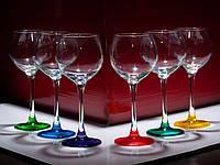 "Набор бокалов 280 мл для вина ""Эдем"" 14с1775 Лак Микс 6 шт. , фото 1"