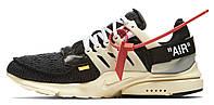 Мужские кроссовки Nike Air Presto Off White The Ten (найк аир престо офф вайт, черные)