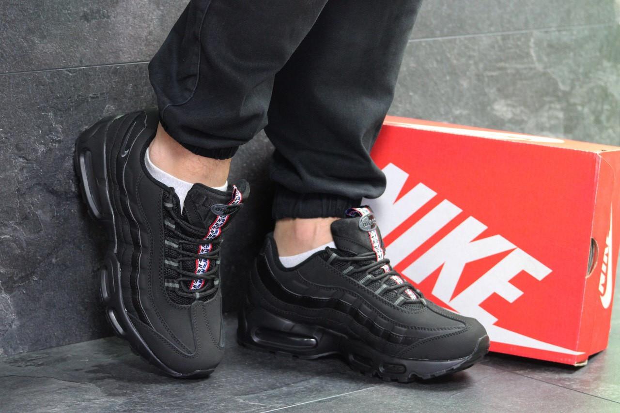 baf1aa38 Мужские кроссовки Nike 7078 черные с серым купить недорого. Большой ...