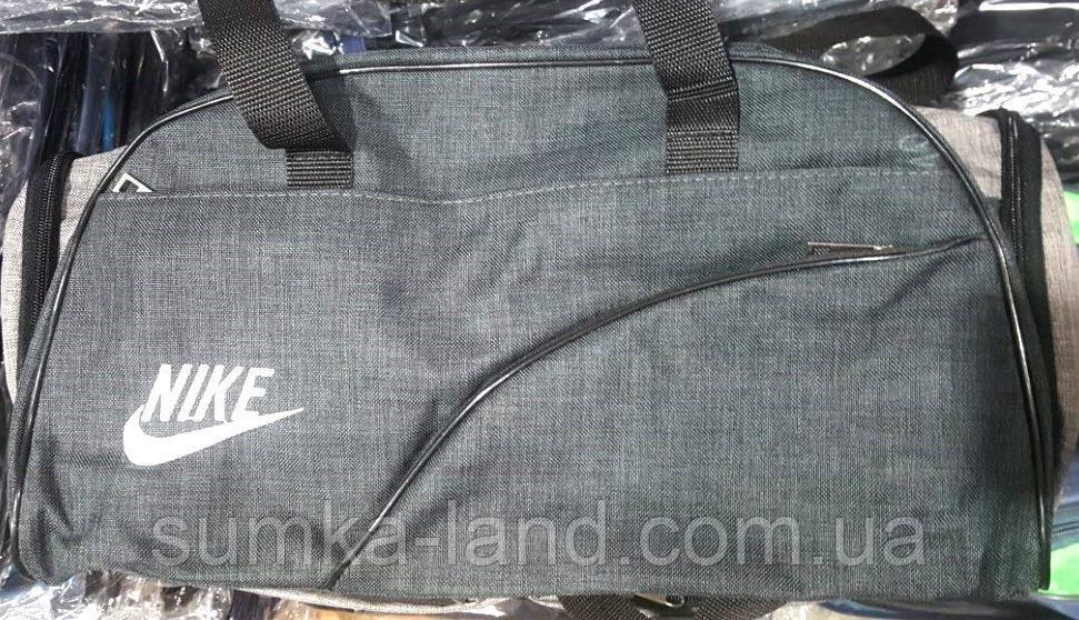 Спортивная дорожная универсальная сумка из текстиля Меланж 46*22 см (мокрый асфальт)
