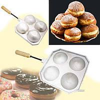 Форма для приготовления творожных, сырных шариков / пончиков (такоячница) на 4 шарика, фото 1