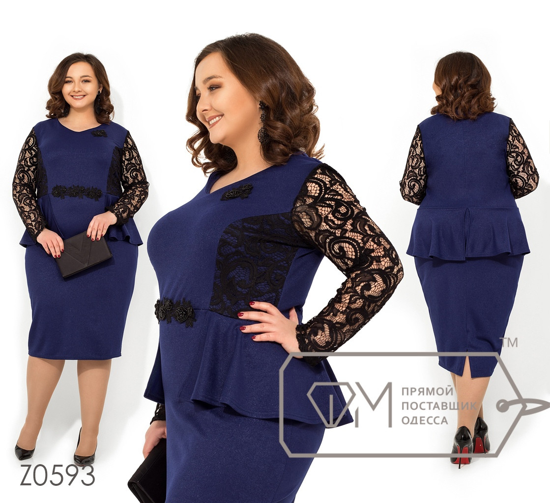 Стильное платье     (размеры 56-62)  0146-79
