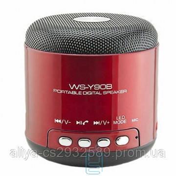 Портативная колонка WSTER WS - Y90B LED красная