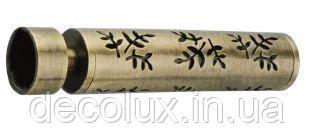 Наконечник на кованый карниз 19 мм Флора (Польша)