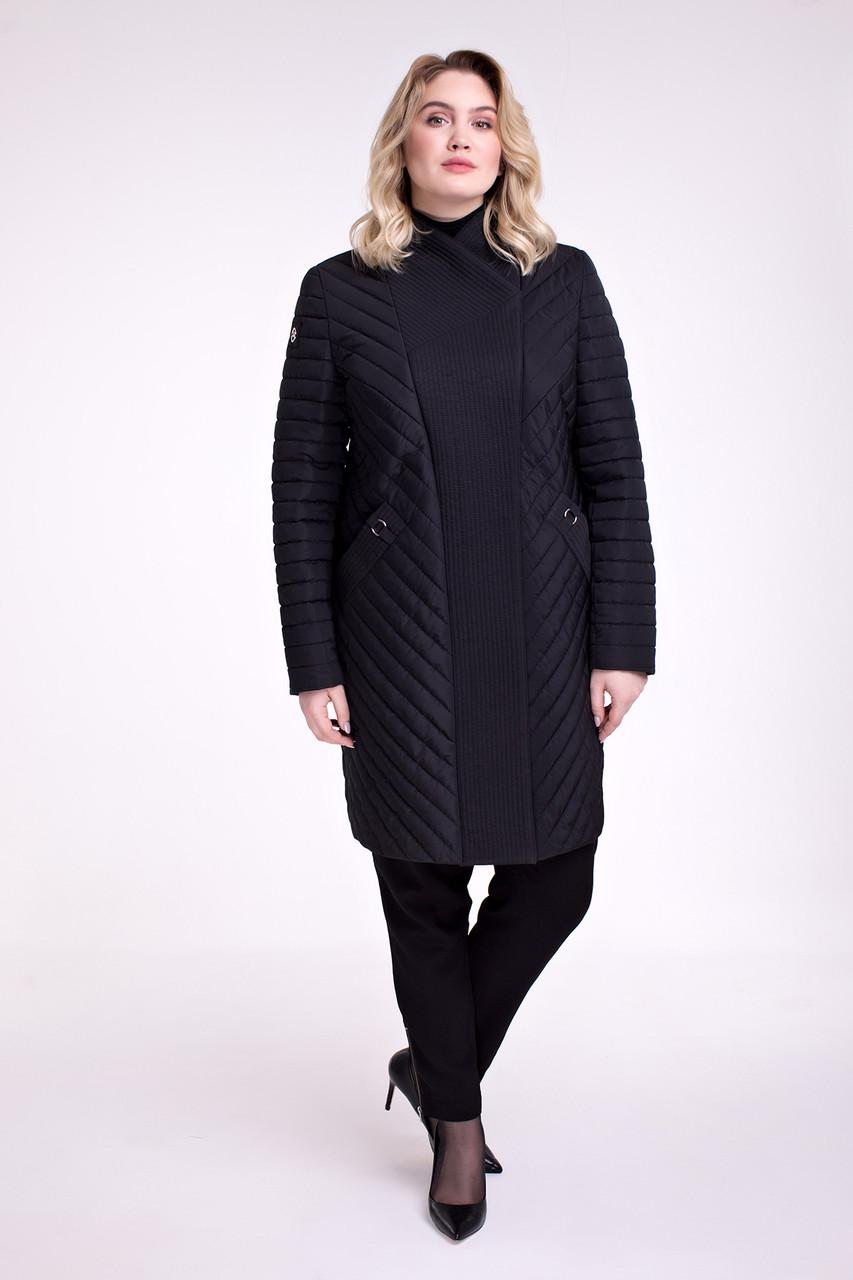 Демисезонное пальто полуприталенного силуэта, размеры 48 60 62