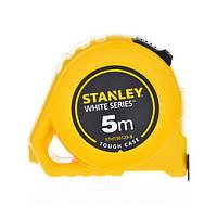 Рулетка 5м х 19мм Tough Case (біле полотно, Nylon) Stanley STHT30123-8 |рулетка вимірювальна 5м Stanley, фото 1