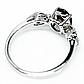 Раухтопаз димчастий кварц, срібло 925, кільце, 1459КЦР, фото 3