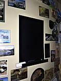 Доска на холодильник меловая магнитная 15х10 см. С полочкой для мела и маркера., фото 5