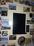 Доска на холодильник меловая магнитная 15х10 см. С полочкой для мела и маркера., фото 6