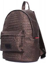 58344213c5aa Женский рюкзак POOLPARTY xs-croco-bronze 9 л кожзам бронзовый