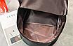 Рюкзак женский кожзам городской Pink серый, фото 10