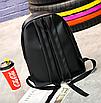 Рюкзак женский кожзам городской Pink серый, фото 9