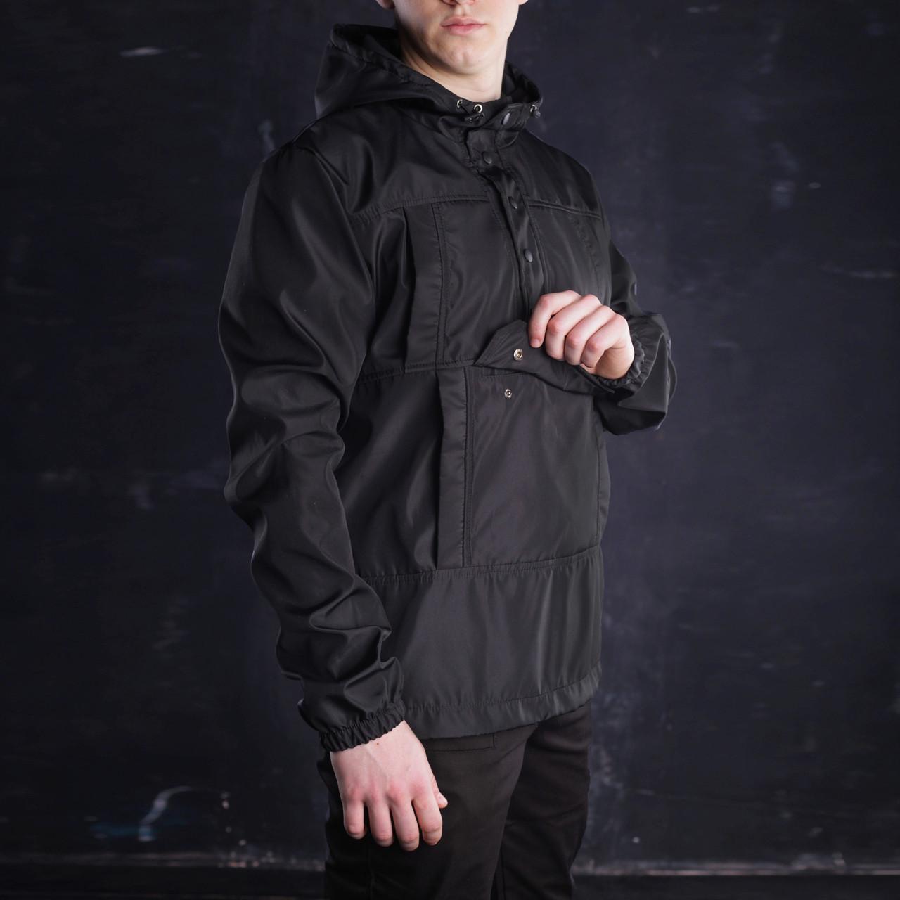 Анорак мужской черный ТУР Warrior S, M, L, XL, XXL