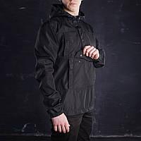 Анорак чоловічий чорний Warrior від бренду ТУР розмір S, M, L, XL, XXL