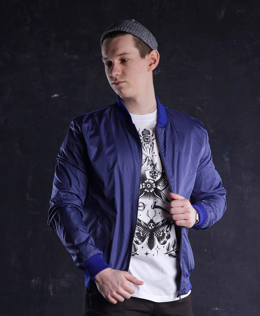 Бомбер мужской синий модель Ватсон (Watson) от бренда ТУР размер S, M, L, XL