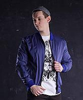 Бомбер мужской синий модель Ватсон (Watson) от бренда ТУР размер S, M, L, XL, фото 1
