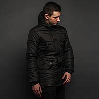 Зимняя куртка парка мужская черная бренд ТУР модель Бизон (Bizon) размер S, M, L, XL, XXL, фото 1