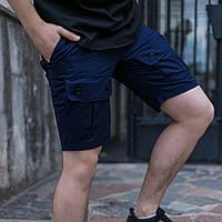 Шорти чоловічі карго темно-сині  модель Брутто (Brutto) бренд ТУР розмір S M L XL XXL, фото 1