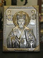 Икона серебряная Святой Николай