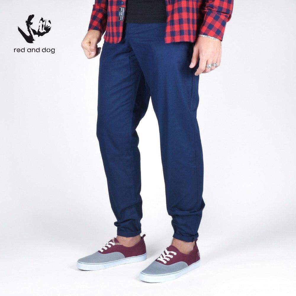 Брюки чиносы мужские синие ЭйрИн Блэк (Airin) от бренда Red and Dog размер S, L, XL, XXL