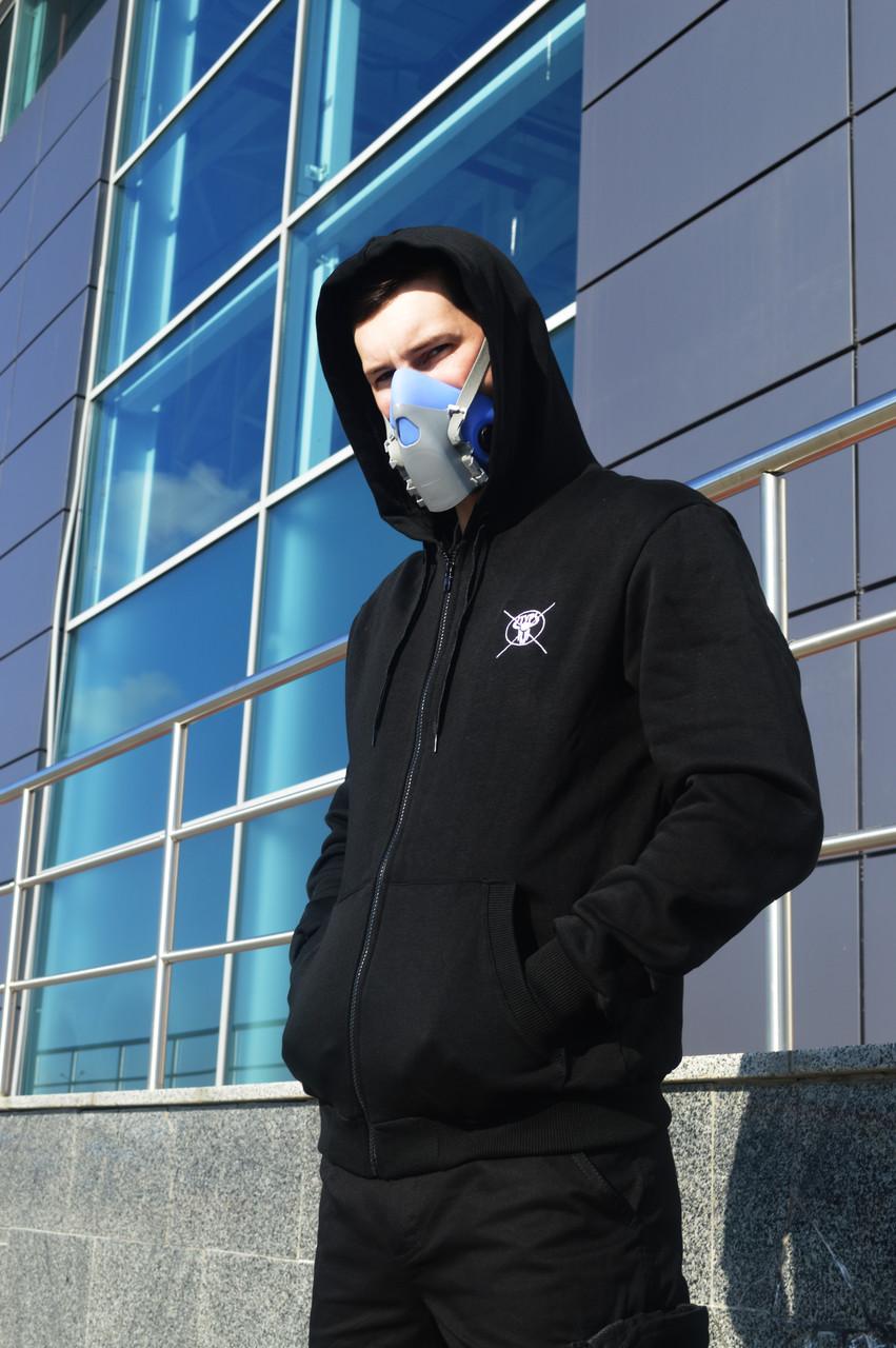 Худи мастерка мужская черная Кронос (Kronos) от бренда ТУР размер S, M, L, XL, XXL