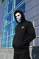 Худи мастерка мужская черная Кронос (Kronos) от бренда ТУР размер S, M, L, XL, XXL, фото 1