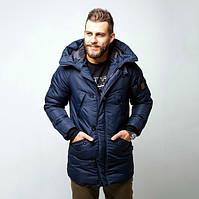 Зимняя куртка парка мужская темно-синяя бренд Red and Dog модель Онома (Onoma) XS, S, M, L, XL, фото 1