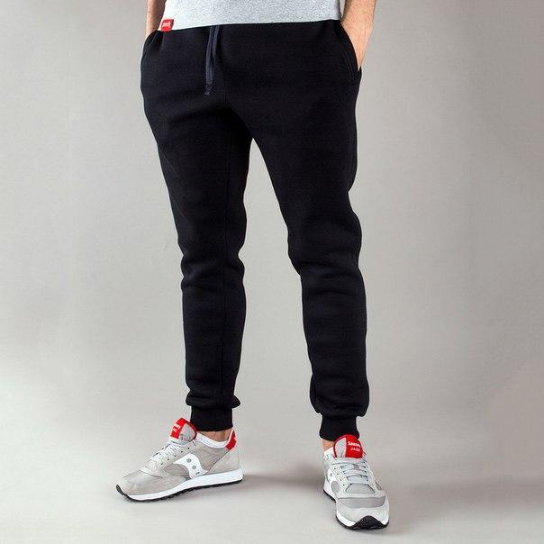 Спортивные мужские штаны зимние цвет черный бренд Punch