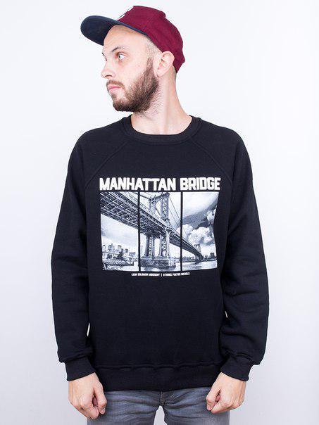 Свитшот мужской Liberty - Manhattan bridge, Black