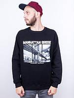 Свитшот мужской Liberty - Manhattan bridge, Black, фото 1