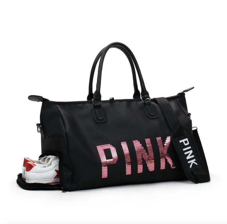 43329ba268ea Купить Сумку женскую спортивную Pink большую Чёрную недорого в ...