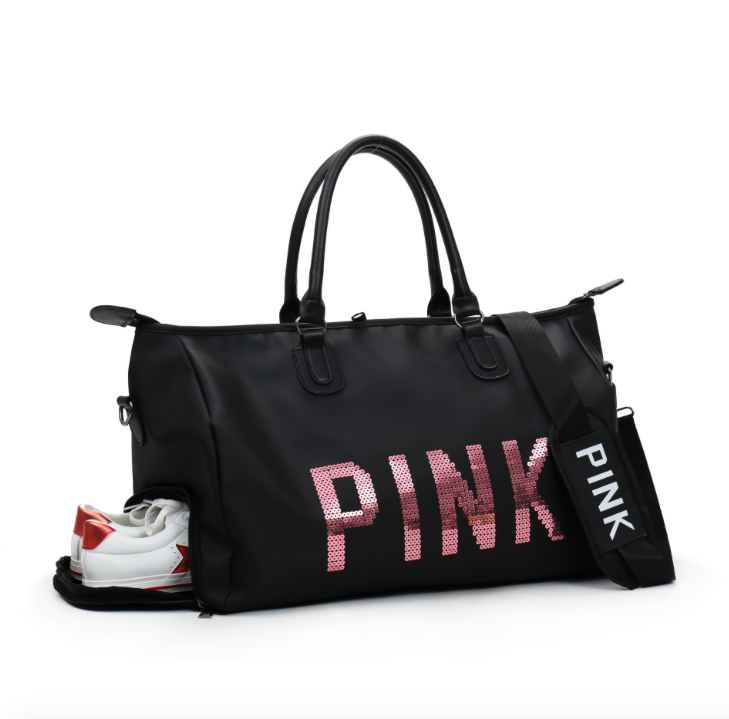 Сумка жіноча спортивна Pink велика Чорний