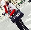 Сумка жіноча спортивна Pink велика Чорний, фото 4