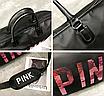 Сумка жіноча спортивна Pink велика Чорний, фото 8