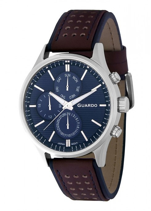Часы Guardo PREMIUM P11647 SBlBr кварц.