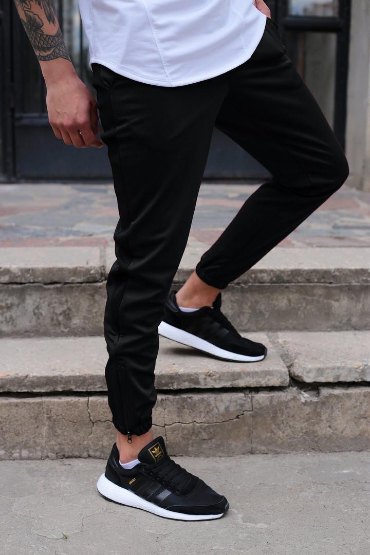 Спортивные штаны мужские черные бренд ТУР модель Рокки (Rocky) размер XS, S, M, L