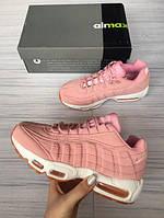 Розовые кроссовки Nike air max 95, фото 1