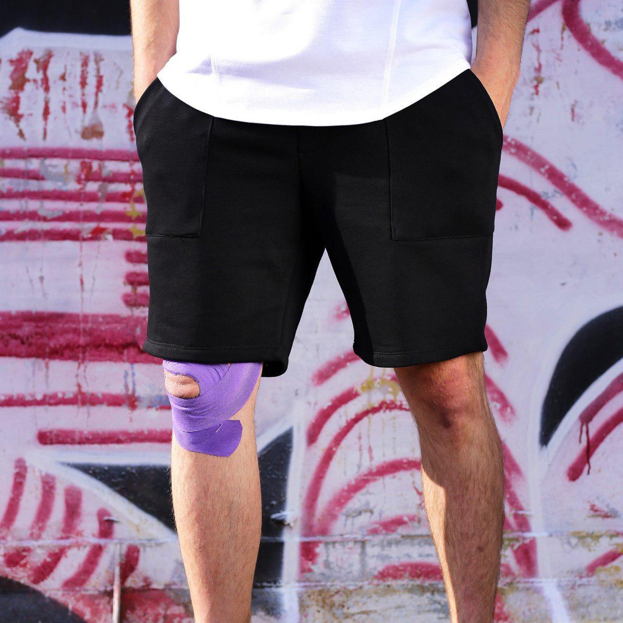 Мужские трикотажные черные шорты Дюк Нюкем (Duke Nukem) от бренда ТУР размер S, M, L, XL