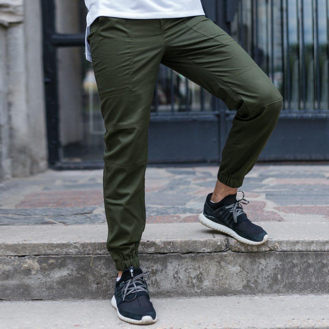 Штани джоггер чоловічі хакі модель Локі (Loki) від бренду ТУР розмір S, M, L, XL