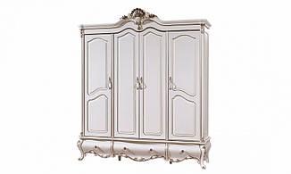 Шкаф 4- дверный Провен белый с позолотой
