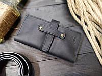 Мужское черное портмоне на застежке ТУР, фото 1