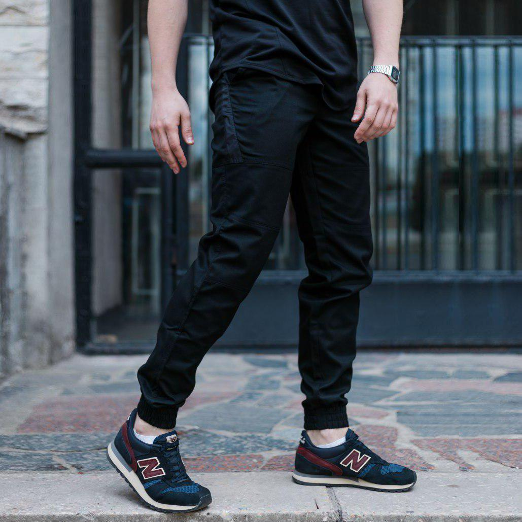 Штаны джоггеры мужские черные от бренда ТУР  Мэд Макс (Mad Max) размер S, M, L, XL, XXL