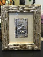 Икона-картина с сусальным золотом Георгий Победоносец