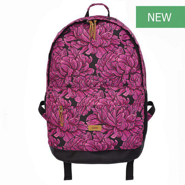 Рюкзак розовый BACKPACK-2   pink pion print 1/18