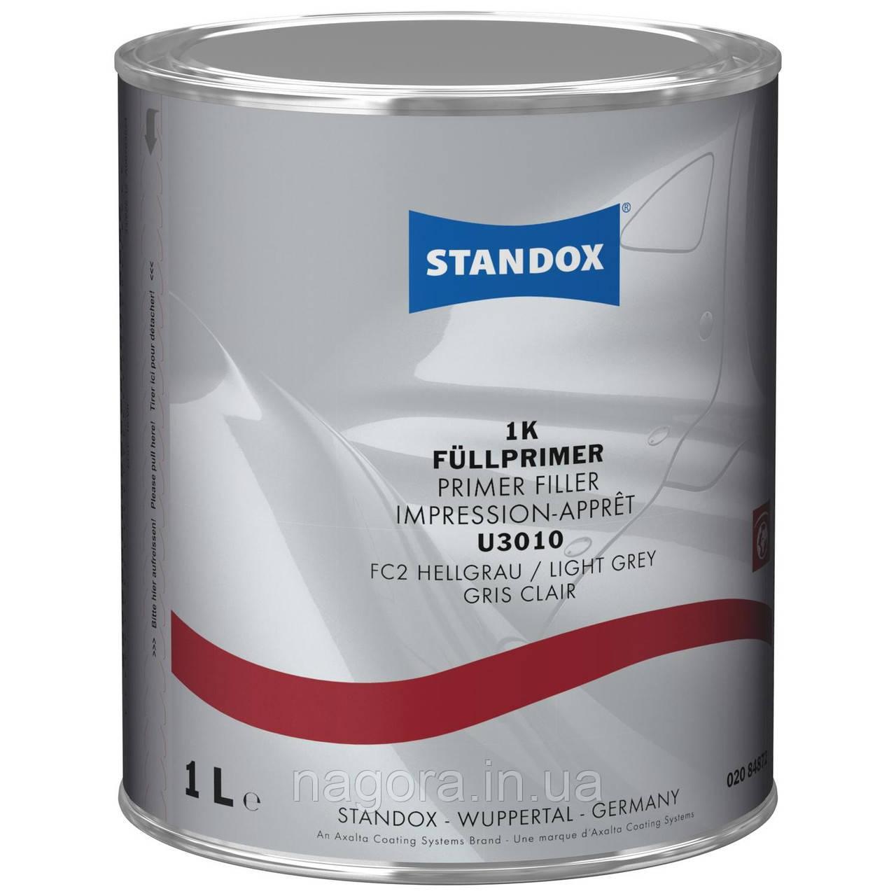 Травящий (кислотный) грунт-наполнитель, однокомпонентный, Standox 1K Primer Filler U3010, светло серый (1л)