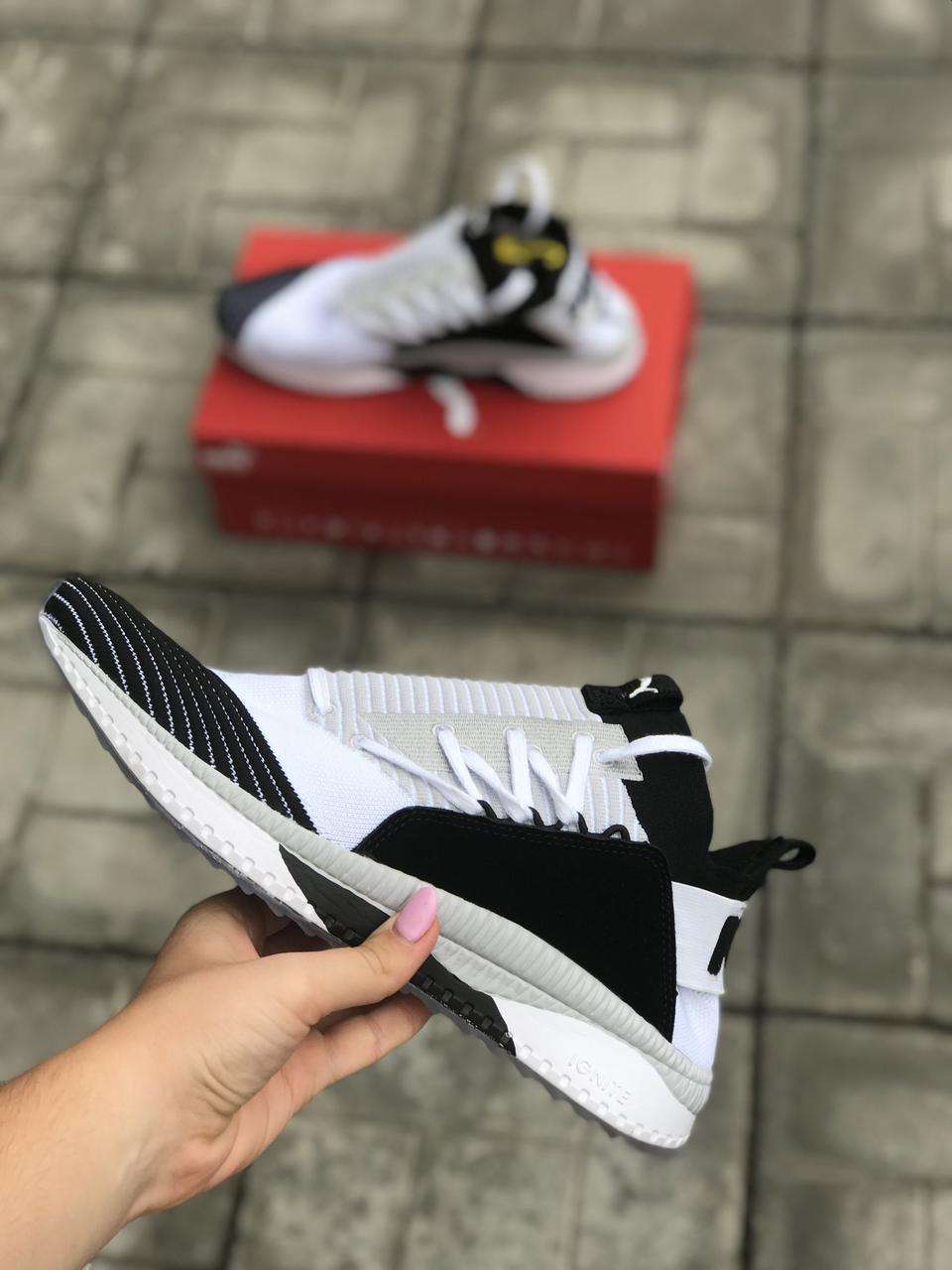 Кроссовки черные с белым Puma Tsugi размеры 41-45