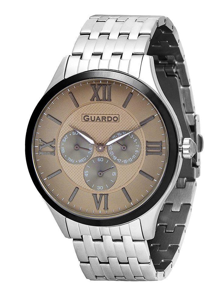 Годинник Guardo PREMIUM P11165(m) SGr браслет кварц.