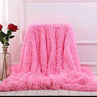 Пледы длинноворсовые травка Leopolo Турция 150*200 розовое
