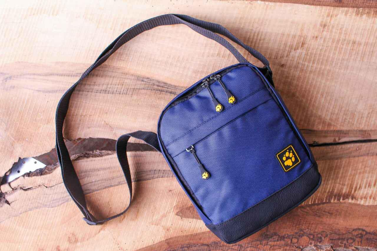 Барсетка синяя Jack Wolfskin, сумка через плечё